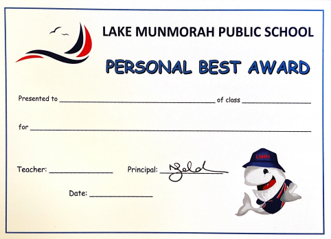 Personal Best Award